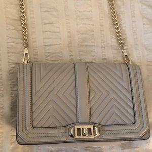 Lightly worn Rebecca Minkoff taupe crossbody bag